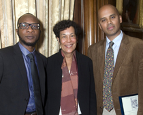The winning authors: Teju Cole, Carla L. Peterson, and Suleiman Osman.