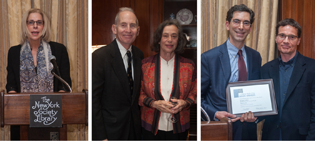 Trustee and presenter Ellen M. Iseman; Warren Wechsler and Lucienne S. Bloch; presenter Barnet Schecter with winner Tom Glynn. Photos by Karen Smul.