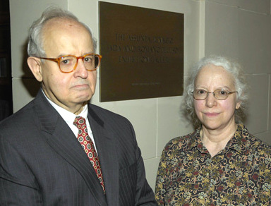 Romano I. Peluso and Ada Peluso at the dedication of the gallery, March 2008